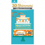 Paper House Productions - 3 Dimensional LED Shimmers - Birthday Cake