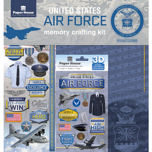 Paper House Productions - 12 x 12 Memory Crafting Kit - United States Air Force