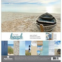 Paper House Productions - At the Beach Collection - 12 x 12 Paper Crafting Kit