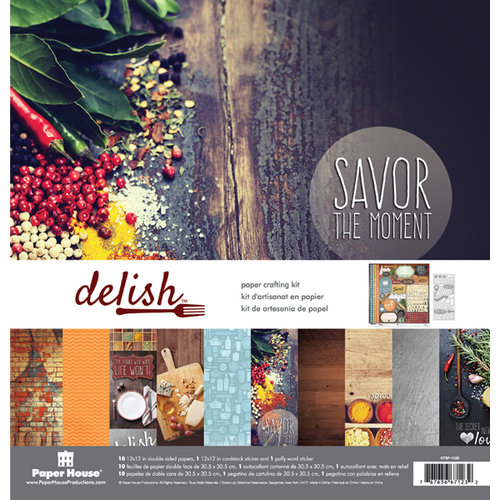 Paper House Productions - Delish Collection - 12 x 12 Paper Crafting Kit