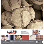 Paper House Productions - All Star Collection - Baseball - 12 x 12 Paper Crafting Kit