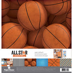 Paper House Productions - All Star Collection - Basketball - 12 x 12 Paper Crafting Kit