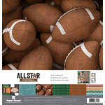 Paper House Productions - All Star Collection - Football - 12 x 12 Paper Crafting Kit