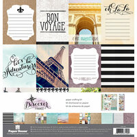 Paper House Productions - Discover Collection - France - 12 x 12 Paper Crafting Kit