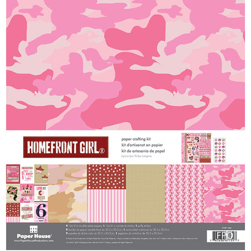 PHP - Home Front Girl Collection - 12 x 12 Paper Crafting Kit - Pink Camo
