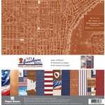 Paper House Productions - Let Freedom Ring Collection - 12 x 12 Paper Crafting Kit - Philadelphia