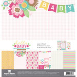 Paper House Productions - Hello Baby Girl Collection - 12 x 12 Paper Crafting Kit