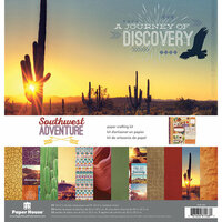 Paper House Productions - Southwest Adventure Collection - 12 x 12 Paper Crafting Kit