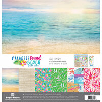 Paper House Productions - Paradise Found Collection - 12 x 12 Paper Crafting Kit - Beach