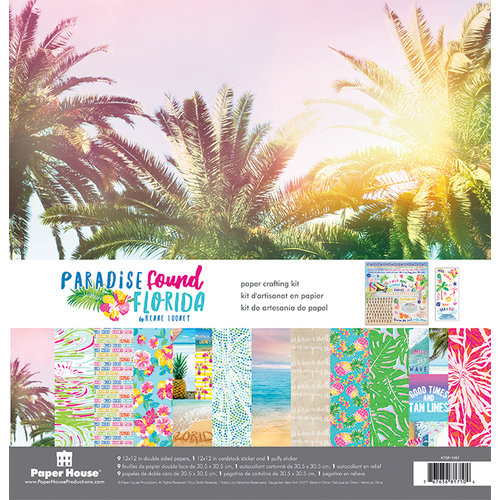 Paper House Productions - Paradise Found Collection - 12 x 12 Paper Crafting Kit - Florida