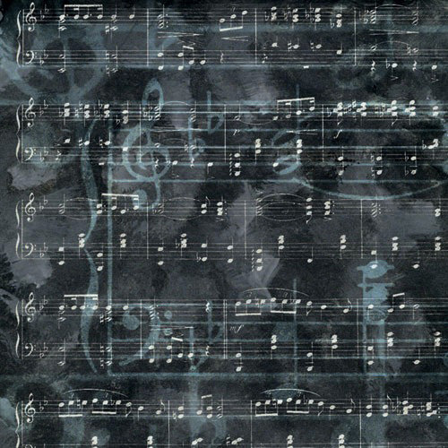 Paper House Productions - School Band Collection - 12 x 12 Paper - Charcoal Music Papers