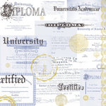 Paper House Productions - Graduation Collection - 12 x 12 Paper - Diplomas