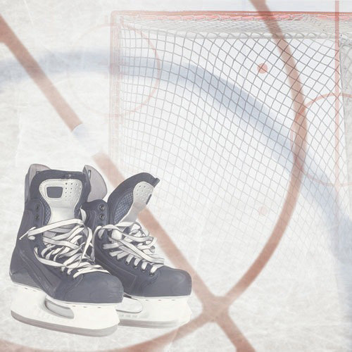 Paper House Productions - Hockey Collection - 12 x 12 Paper - Hockey Collage