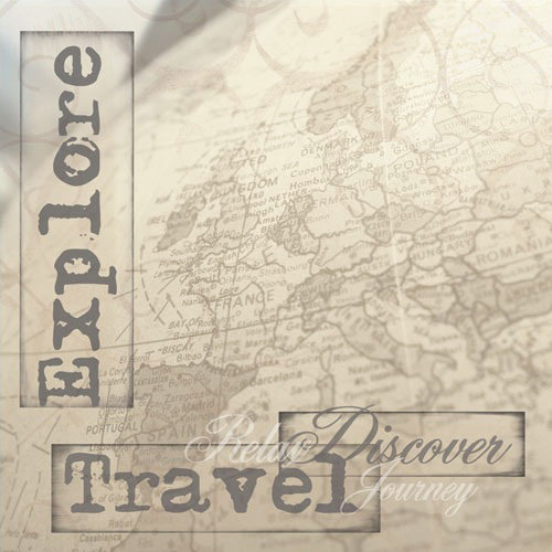 Paper House Productions - Travel Collection - 12 x 12 Paper - Explore