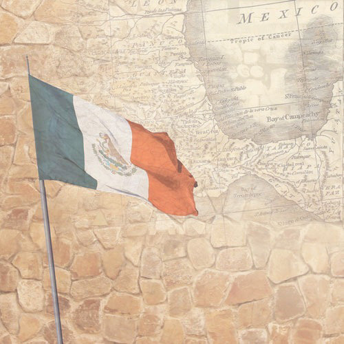 Paper House Productions - Mexico Collection - 12 x 12 Paper - Mexico Map