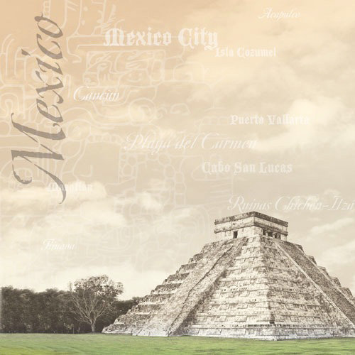 Paper House Productions - Mexico Collection - 12 x 12 Paper - Chichen Itza