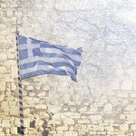 Paper House Productions - Greece Collection - 12 x 12 Paper - Greece Map