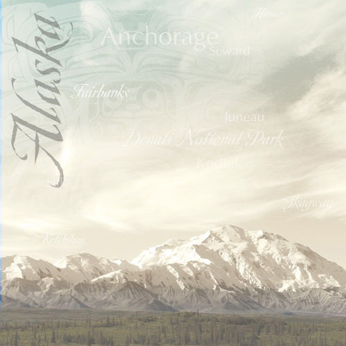 Paper House Productions - Alaska Collection - 12 x 12 Paper - Mount McKinley