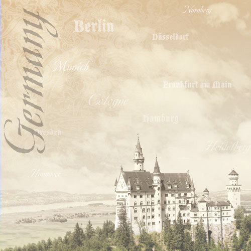 Paper House Productions - Germany Collection - 12 x 12 Paper - Neuschwanstein Castle
