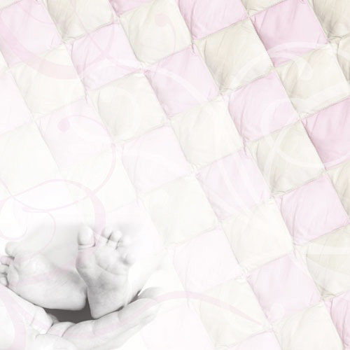 Paper House Productions - Baby Girl Collection - 12 x 12 Paper - Pink Baby Toes