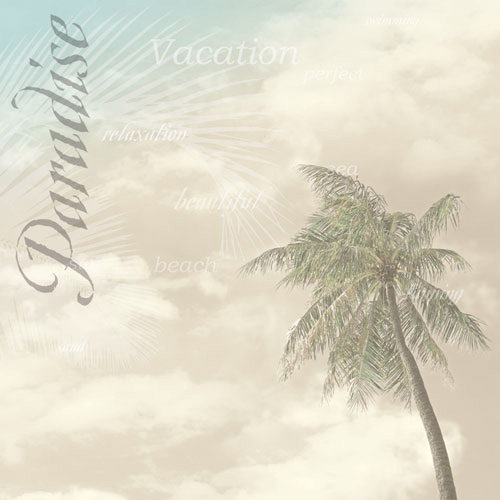 Paper House Productions - Tropical Island Collection - 12 x 12 Paper - Paradise