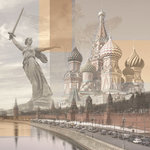 Paper House Productions - Russian Collection - 12 x 12 Paper - Russia Collage