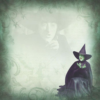 Paper House Productions - Wizard of Oz Collection - 12 x 12 Paper - Wicked Witch