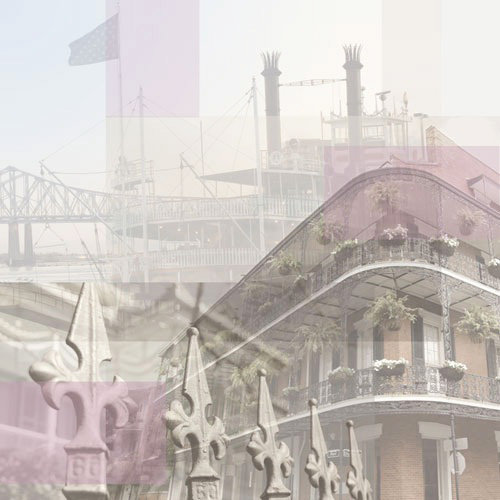 Paper House Productions - New Orleans Collection - 12 x 12 Paper - New Orleans Collage