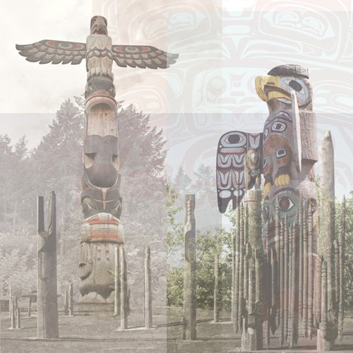 Paper House Productions - Canada Collection - 12 x 12 Paper - Totem Pole Collage