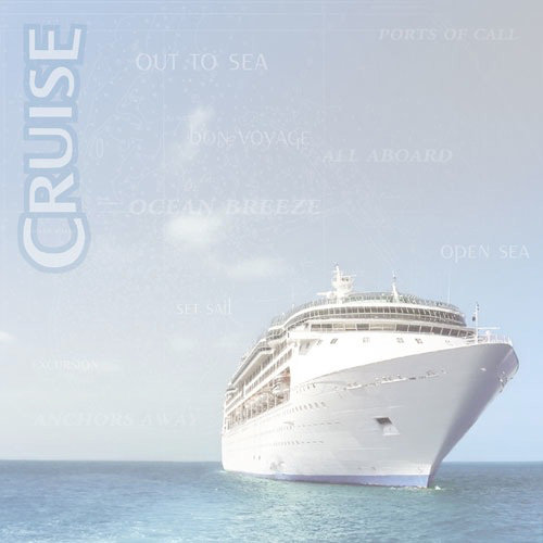 Paper House Productions - Cruise Collection - 12 x 12 Paper - Cruise Ship
