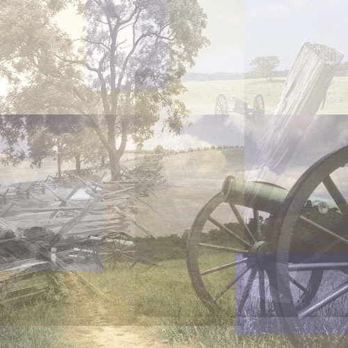 Paper House Productions - Civil War Collection - 12 x 12 Paper - Battlefield Collage
