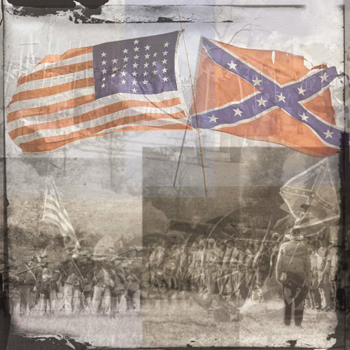 Paper House Productions - Civil War Collection - 12 x 12 Paper - Civil War Collage