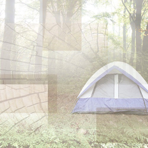 Paper House Productions - Camping Collection - 12 x 12 Paper - Camping Tent