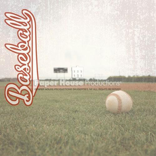 Paper House Productions - Baseball Collection - 12 x 12 Paper - Outfield