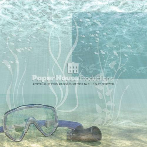 Paper House Productions - Fun Beach Collection - 12 x 12 Paper - Beach Snorkel