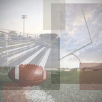 Paper House Productions - Football Collection - 12 x 12 Paper - Football Collage