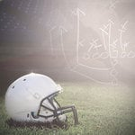 Paper House Productions - Football Collection - 12 x 12 Paper - Helmet on Field