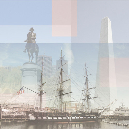 Paper House Productions - Massachusetts Collection - 12 x 12 Paper - USS Constitution 2