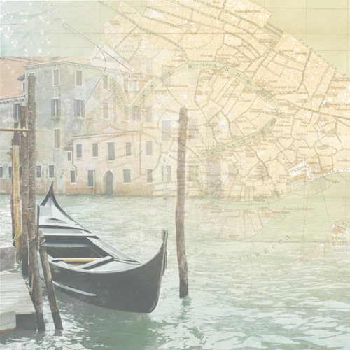 Paper House Productions - Venice Collection - 12 x 12 Paper - Venice Map