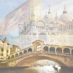 Paper House Productions - Venice Collection - 12 x 12 Paper - Venice Collage