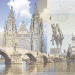 Paper House Productions - Prague Collection - 12 x 12 Paper - Prague Collage