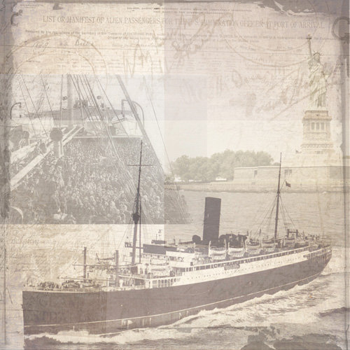 Paper House Productions - Ellis Island Collection - 12 x 12 Paper - Passage