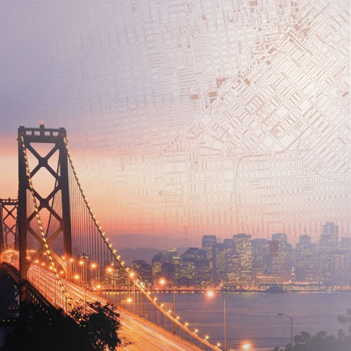 Paper House Productions - San Francisco Collection - 12 x 12 Paper - Bay Bridge