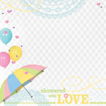 Paper House Productions - Baby Shower Collection - 12 x 12 Paper - Showered with Love