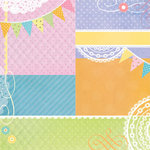 Paper House Productions - Baby Shower Collection - 12 x 12 Paper - Baby Blocks