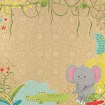 Paper House Productions - Born to Be Wild Collection - 12 x 12 Paper - Jungle Friends