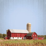 Paper House Productions - Farm Collection - 12 x 12 Paper - Red Barn