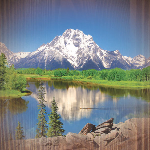 Paper House Productions - Nature Collection - 12 x 12 Paper - Mountain Lake