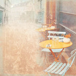 Paper House Productions - France Collection - 12 x 12 Paper - Parisian Cafe