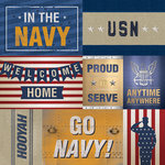Paper House Productions - 12 x 12 Paper - US Navy Tags